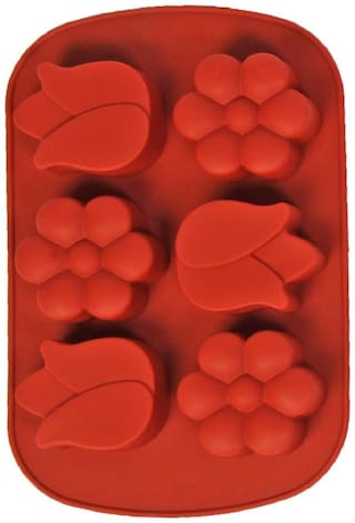 Silicon 6 Cavity, Flower Petal Shape,Non Sticky Mold for soap,Chocolate, Fondant Sugar bakeware Mold