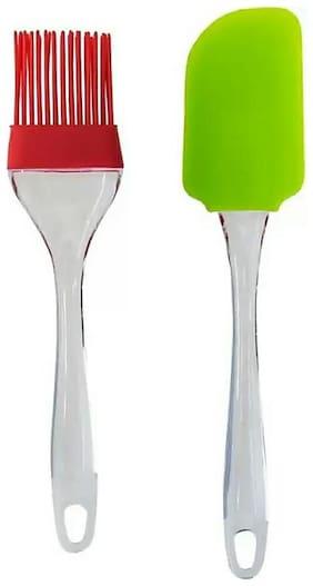 GLUCKLICH Silicone Multi Oil Brushes ( Set Of 2 )