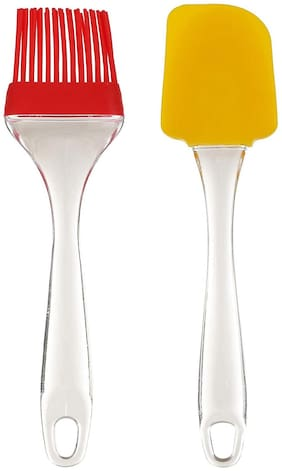 Marketwala Plastic & Silicone Assorted Oil Brushes ( Set of 2 )