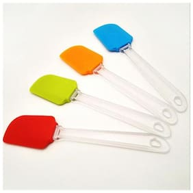 Silicone Non-Stick Plastic Handal Spatula Sold By Evershine Gifts And Household- Size- 24cm- Set of 2Pcs
