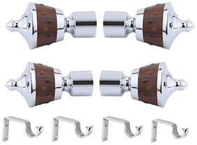 CASAGOLD Zinc Curtain bracket ( Set of 8 )