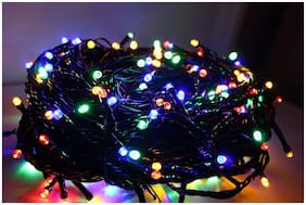 SILVOSWAN 50 Meter Diwali Light Rice Light Ladi Multicolor