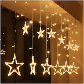 Silvoswan LED Star Curtain Fancy LED String Light for Diwali Decoration