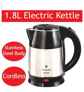 Singer AROMA 1.8 L Black & Silver Electric Kettle ( 1500 W )