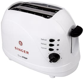 Singer DUO 2 Slices Pop-up Toaster ( White )