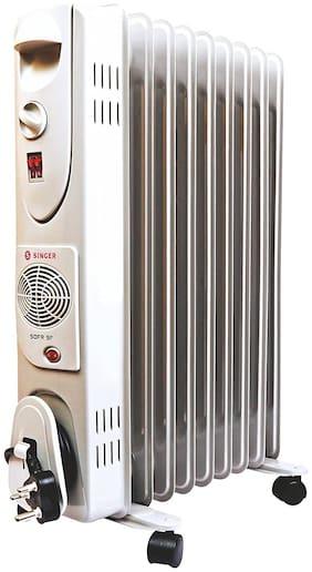 Singer OFR 9 FIN 2600 Watts Oil Filled Radiator Room Heater (White)