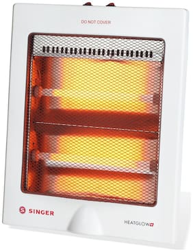 Singer Quartz Heat Glow Plus 800-W Room Heater (White)