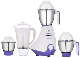 Singer SMG 754 GPE 750 W Mixer Grinder ( White & Purple , 4 Jars )