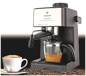 Singer Xpress Brew 800 W Coffee Maker - 4 Cups Espresso/Coffee Capacity Carafe
