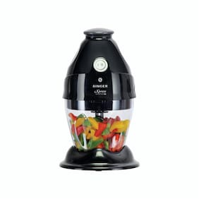 Singer Xpress Chopper 500 Mini Vegetable Chopper with high Quality Blades and Transparent Bowl