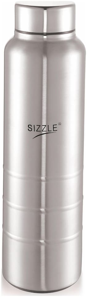 Sizzle 750 ml Stainless Steel Silver Fridge Bottles - Set of 1