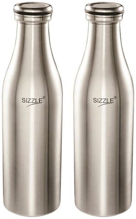 Sizzle Stainless Steel Silver Water Bottle ( 750 ml , Set of 1 )