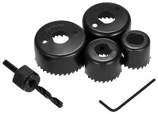 SKY-ANGEL 6 Pcs Hole Saw Set (Metal Hole Saw Set)- (Black, 6-Pieces)