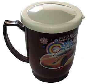 Sky Stainless Steel Coffee/Milk Mug with Lid 200ml-Brown
