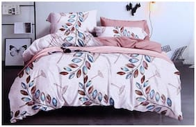 SKY TEX Cotton Floral King Size Bedsheet 150 TC ( 1 Bedsheet With 2 Pillow Covers , Multi )
