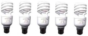 SKYBRIGHT 15 watt B22 CFL Bulb - White , Pack of 5