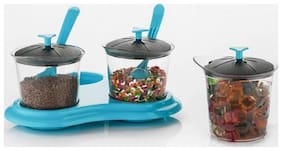 SKYFLY 250 ml Blue Plastic Container Set - Set of 3