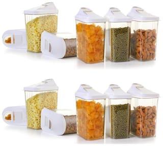 SKYFLY 1500 ml Transparent Plastic Container Set - Set of 12