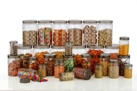 SKYFLY Storage Round Transparent Container Set Kitchen Storage Container (Pack of 30)