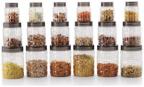 SKYFLY 1000 ml Transparent Plastic Container Set - Set of 18