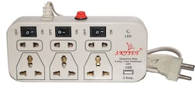 SKYJET 6+3 USB 2 Amp Mobile Charging Extension Cord