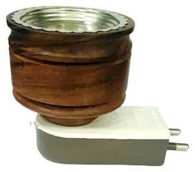 Skys & Ray Mini Wooden Electric Kapoor Dani Incense Burner Bakhoor Dani Aroma Diffuser Camphor Burner for Positive Energy
