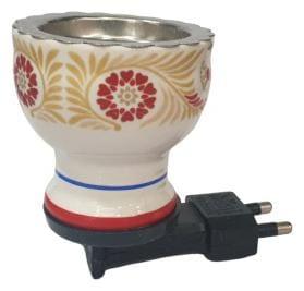 Skys & Ray Multipurpose Direct Plug in Ceramic Electric Incense Burner Bakhoor Dani Kapoor Dani Aroma Diffuser.