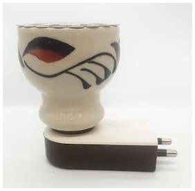 Skys & Ray Multipurpose Direct Plug in Ceramic Electric Incense Burner Bakhoor Dani Kapoor Dani Aroma Diffuser