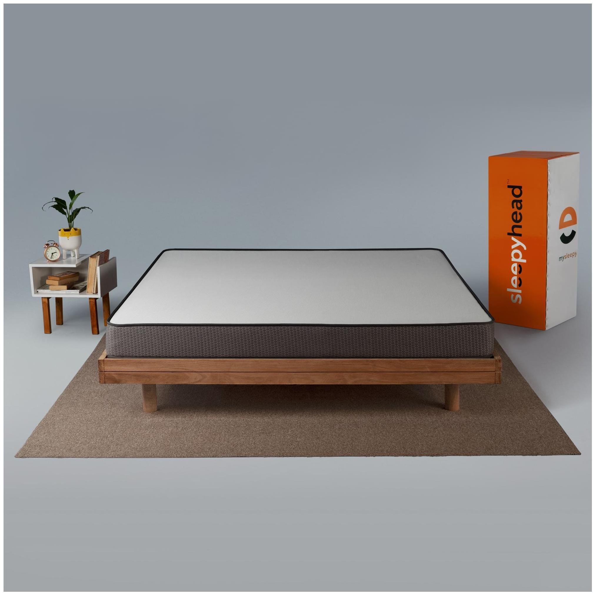 Sleepyhead Flip Dual Sided High Density Foam Mattress with Firm   Soft Sides;78x60x5 inch Queen Size  by Sleepyhead Home Decor