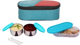 Carrolite 3 Containers Stainless steel Lunch Box - Green
