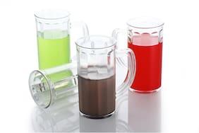 Slings Beer Plastic Mug Glass Set With Handle