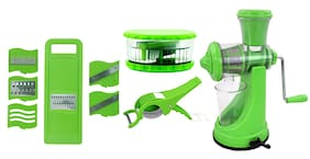 SM Plastic Green Kitchen Tool Combos ( Set of 4 )