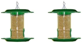 small bird feeder with hut  (pack of 2)