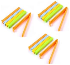 Small, Medium, Large Plastic Food Seal Clip  (Set of 18, Multicolor)