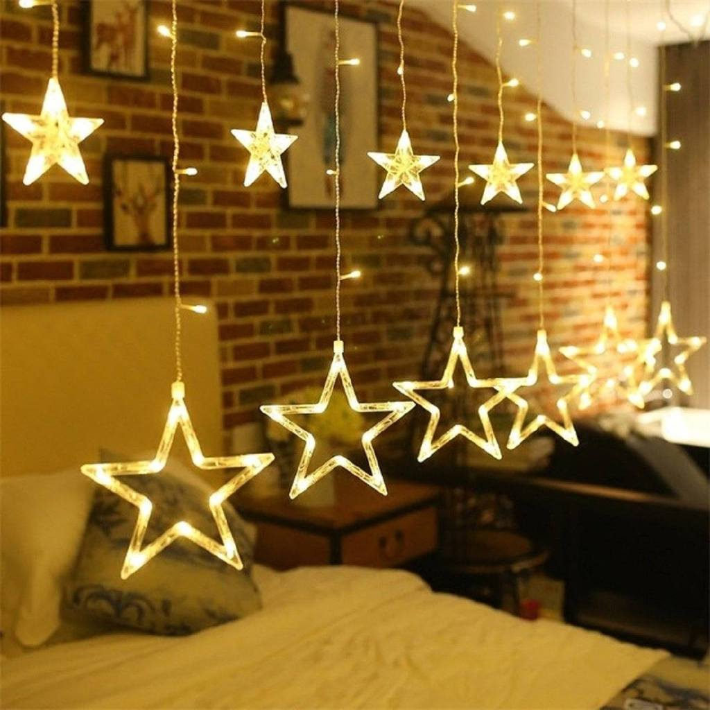 Buy Smart Choice Star Curtain Lights 12 Stars 138 Led Star String Lights 8 Modes Stars Shaped String Lights Plug In Curtain Lights For Bedroom Wedding Party Christmas Decorations For The Home Online At Low Prices