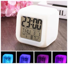 MARKETWALA Plastic Digital Table clock & Alarm clock ( Set of 1 )