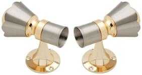 SmartShophar Zinc Curtain Brackets 2 Piece Gold Silver Topaz