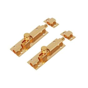 Smart Shophar Brass Hex Tower Bolt 6 Inches Gold