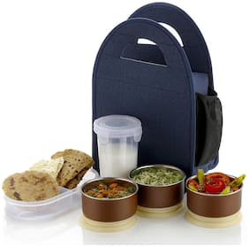 Smart Home Mart STAINLESS STEEL LUNCH BOX 5 Container Stainless Steel Lunch Box Set of 1 ( Assorted ,  1200 ml )