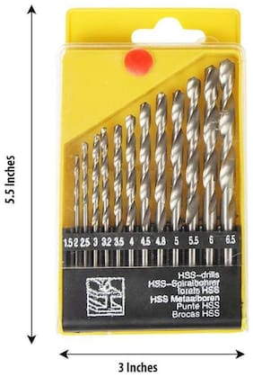 SMB TOOLS 13 pcs of HSS BIT Set for Drilling Wood;Steel and Normal Wall