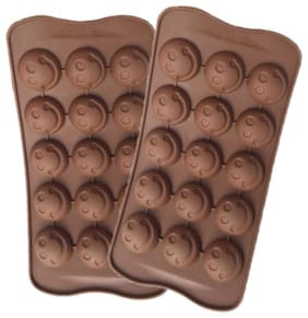 Benison India Silicone Brown Baking & icing tools ( Set of 2 )