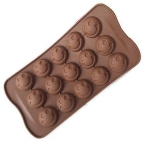 Smiley chocolate/jelly/ice shape moulds of high quality Silicone(Pack of 1)