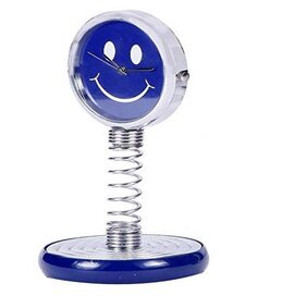 Smiley Spring Table/ Desk Clock Decorative Gift Item (Assorted Color) Pack of 1