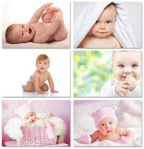 Smiling Baby Poster for Pregnant Women Bedroom Cute Toddler Infant Babies Photo Set of 6