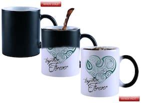 Snoby Magic Mug Black Ceramic Colour Changing Coffee Mug