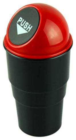 SNR All Car Trash Bin Can Garbage Mini Dust Bin Coin Holder Ashtray Cup (Assorted) Plastic Dustbin (Pack of 1)