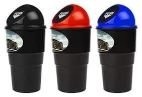 SNR  Mini Car Trash Bin Can Holder Dustbin ( asorted) pack of 3