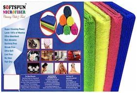SOFTSPUN 340 GSM Microfiber Hand Towel ( 4 Pieces , Multi )