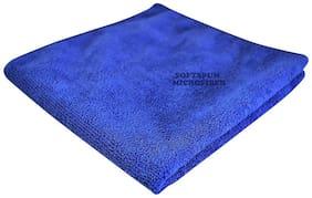 SOFTSPUN 340 GSM Microfiber Hand towel ( 1 piece , Blue )
