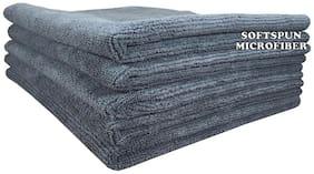 SOFTSPUN 340 GSM Microfiber Hand towel ( 5 pieces , Grey )